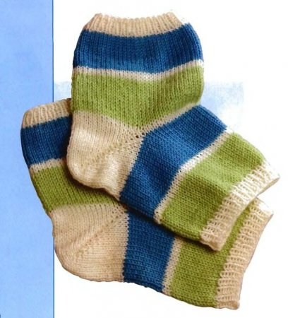 Вязаные носки без пальцев
