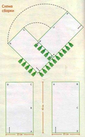 вязаное пончо для девочки, пончо для девочки схема, схема вязаное пончо для девочки