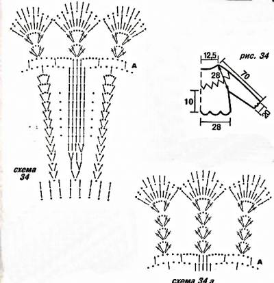 Болеро, вязанное крючком