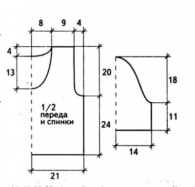 Вязаный пуловер в технике пэчворк