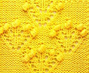 Узоры с шишечками для вязания спицами