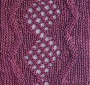Ажурные узоры для вязания спицами