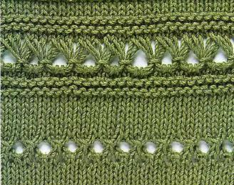 Фантазийные узоры для вязания спицами