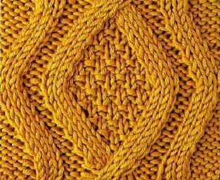 Узоры с ромбами для вязания крючком