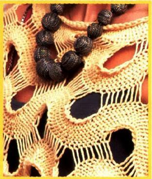 Схема вязания летнего пуловера из перемычек