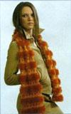 Вязаный шарф с ажурными полосами