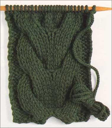 схема вязания косы спицами.