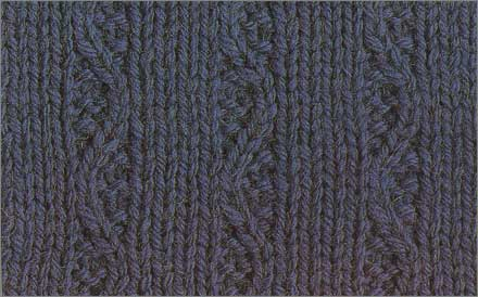 Узор вязания спицами коса