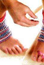 Вязаные носки с открытой пяткой