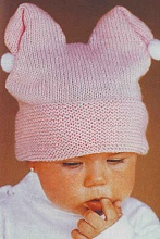 Вязаная шапочка для малышей