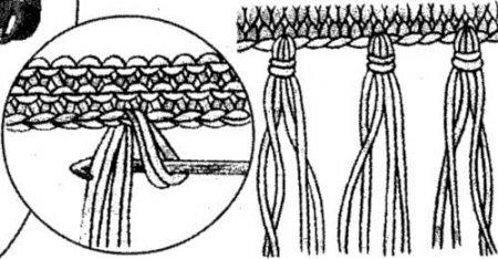 Вязаная шапка и шарф из объёмной пряжи