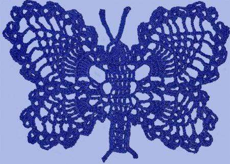 "Схема вязания крючком узора ""бабочка"""