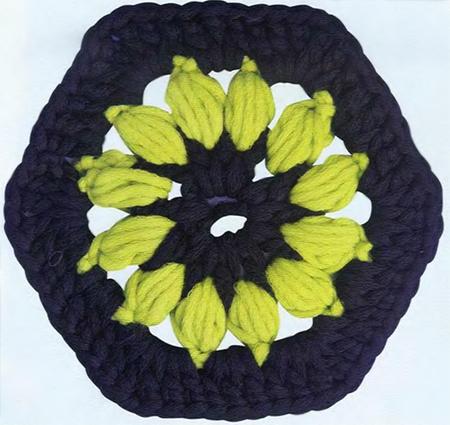 Вязание узора коротким крючком