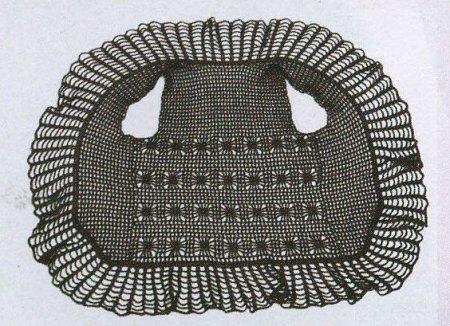 Вязаный жилет в сетку