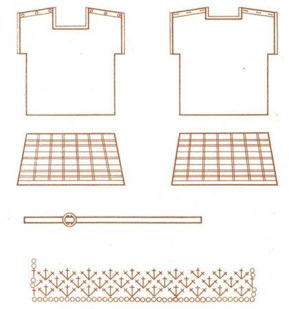 Вязаная кофточка из ириса