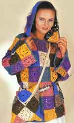 Вязаный разноцветный джемпер