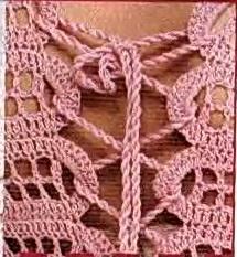 Вязаный розовый топ