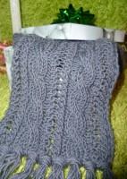 Вязаный мужской шарф с косами
