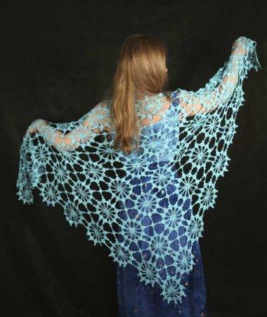 Вязание мотивов шали