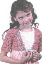 Вязаное болеро с цветочками для девочки