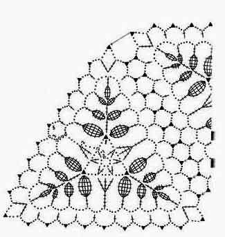 Треугольное вязание крючком