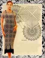 Вязаное платье из фрагментов