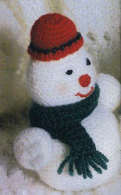 Схемя вязания снеговика